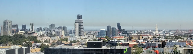 Photochemical smog over the city of Melbourne
