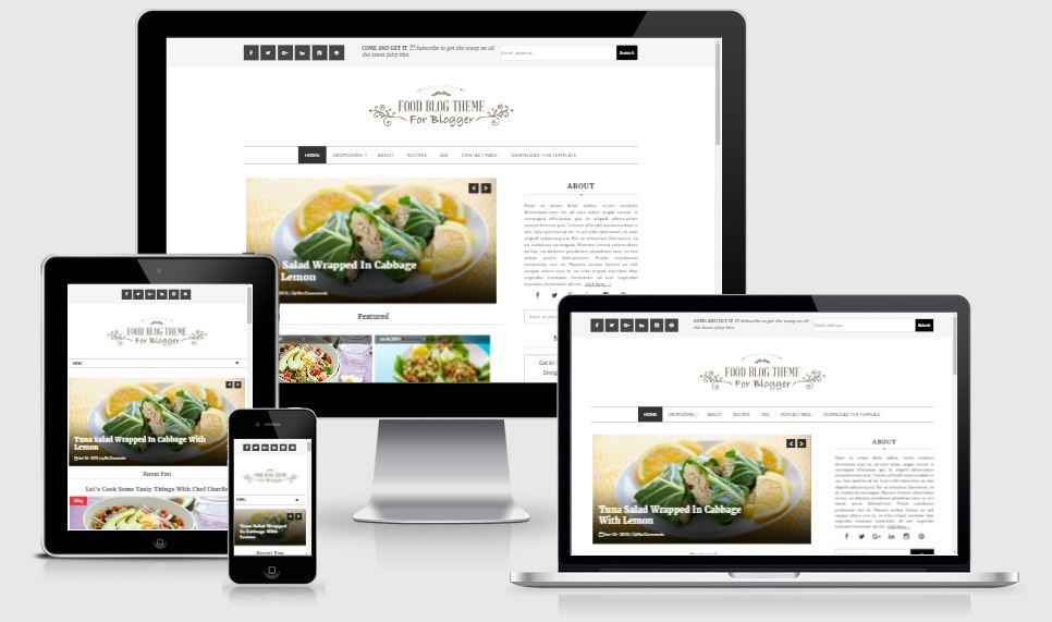 Food Blog Personal Cooking Professional Blogger Template