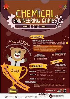 Lomba Chemical Engineering Games 2018 Univ. Surabaya