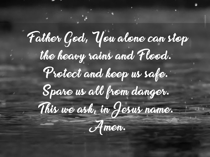 Prayer for Protection against Heavy Rains and Floods