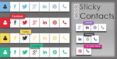 CodeCanyon - CSS3 Sticky Contacts - RIP