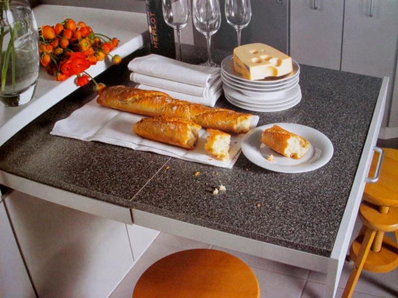 przesuwny blat kuchenny, nowoczesne rozwiązania do kuchni, funkcjonalna kuchnia