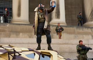 Bane on top of the Bat Mobile, The Dark Knight Rises