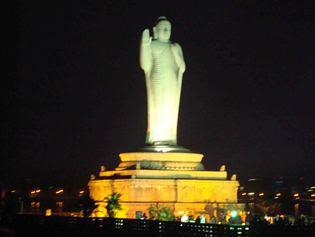 hussain sagar buddha statue accident