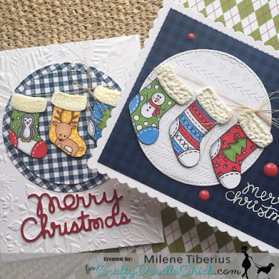 Merry Christmas by Milene features Holiday Stockings by Newton's Nook Designs; #newtonsnook