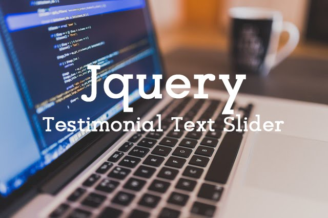 Testimonial Slider Text Widget with JQuery Cycle Plugin