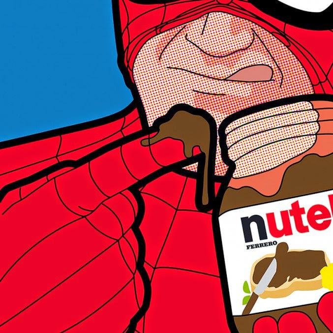 ilustración de super héroes cultura pop - spider man
