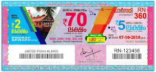 Kerala Lottery Result Today 07-10-2018 Pournami RN-360 Lottery keralalotteries.net
