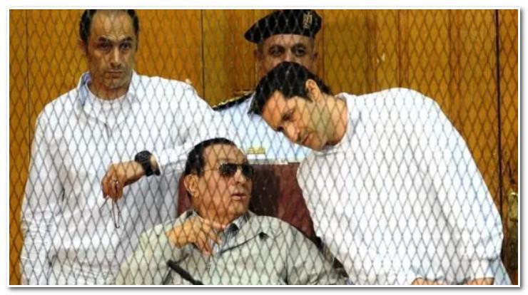 نجلي حسني مبارك وراء القضبان