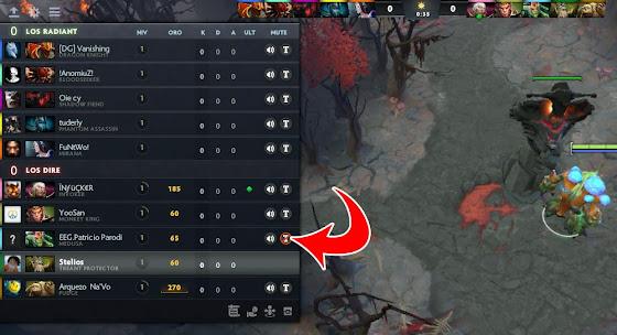 Como silenciar a un jugador en DOTA 2, Bloquear Chat