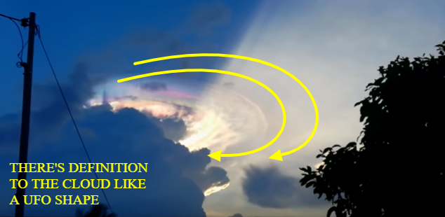 """There seems to be Flying Saucer definition to this """"cloud anomaly""""."""