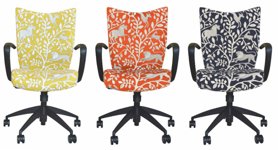 upholstered office chairs. our bristol chair upholstered in dwellstudiou0027s pantheon fabric available several colors office chairs c