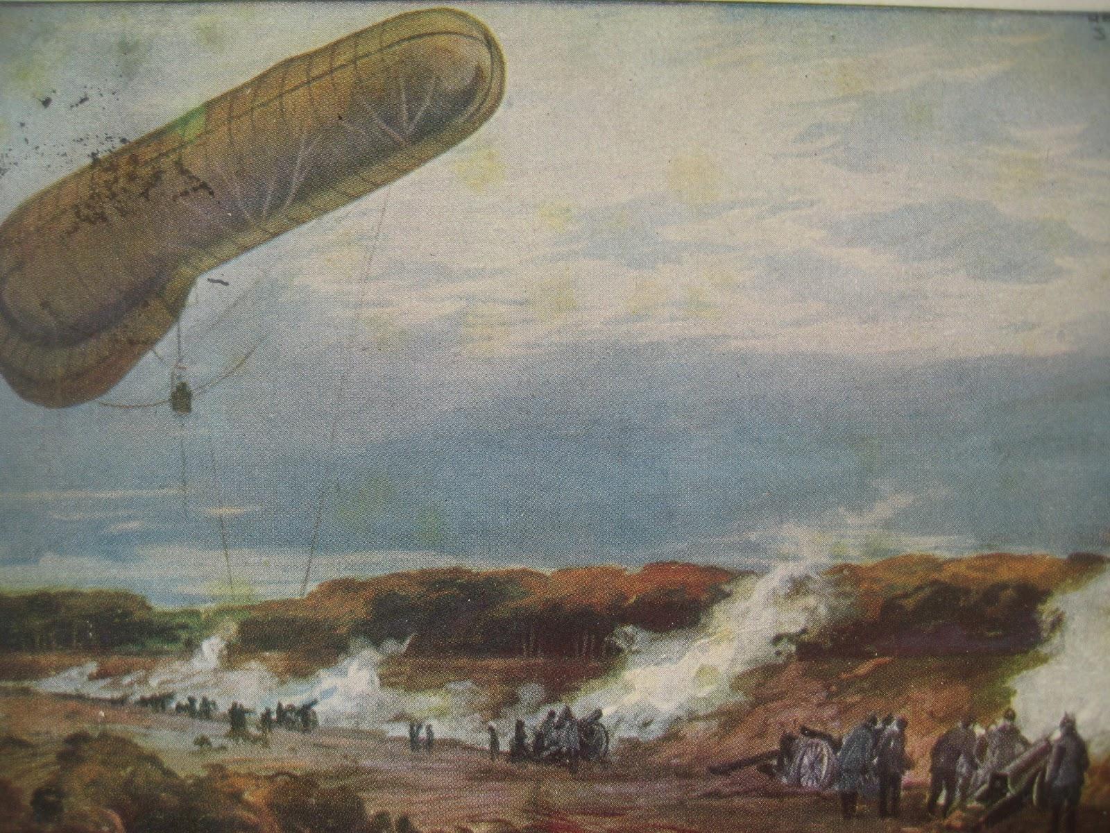 Fontanefans Schnipsel: 1. Weltkrieg: Fesselballon zur Beobachtung ...
