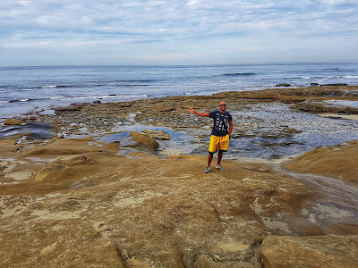 The tidepools are behind me, and beside me, and under me