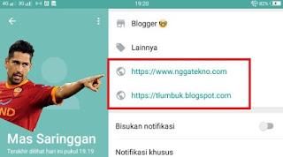 cara menambahkan url link aktif pada profil whatsapp
