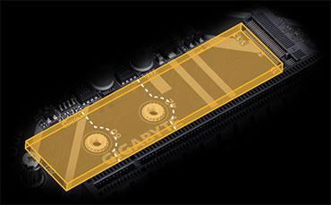 Đầu nối NVMe PCIe Gen3 x4 2280 M.2, bo mạch chủ, mainboard gigabyte, GA-Z370M-DS3H