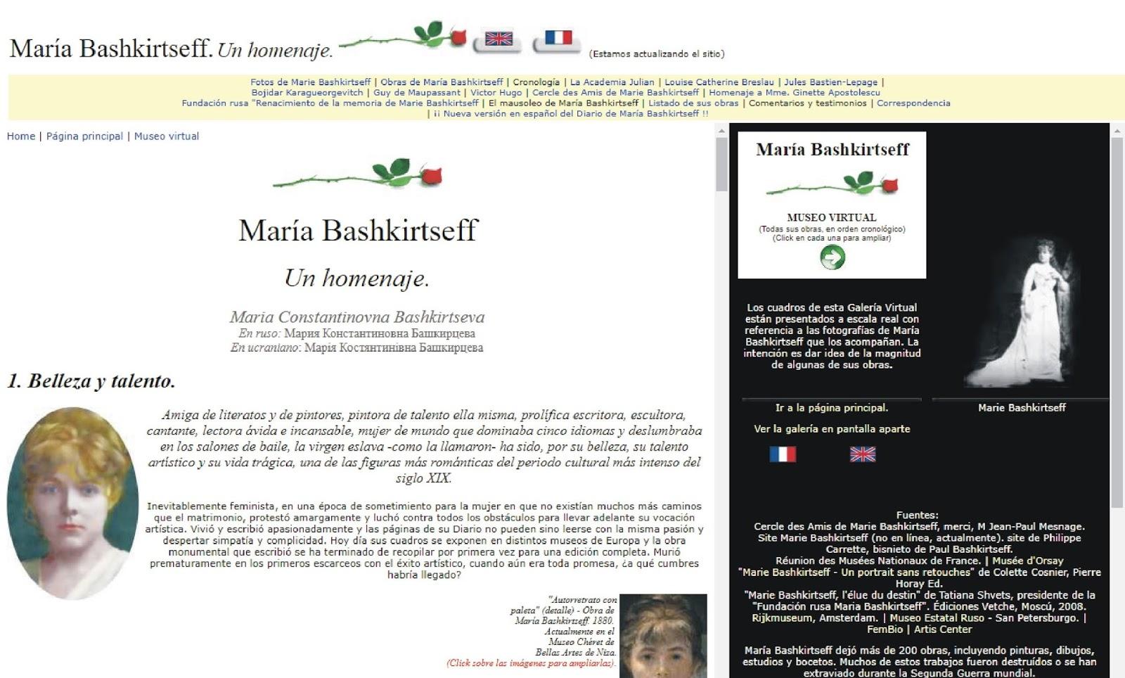 Marie Bashkirtseff. Un homenaje.