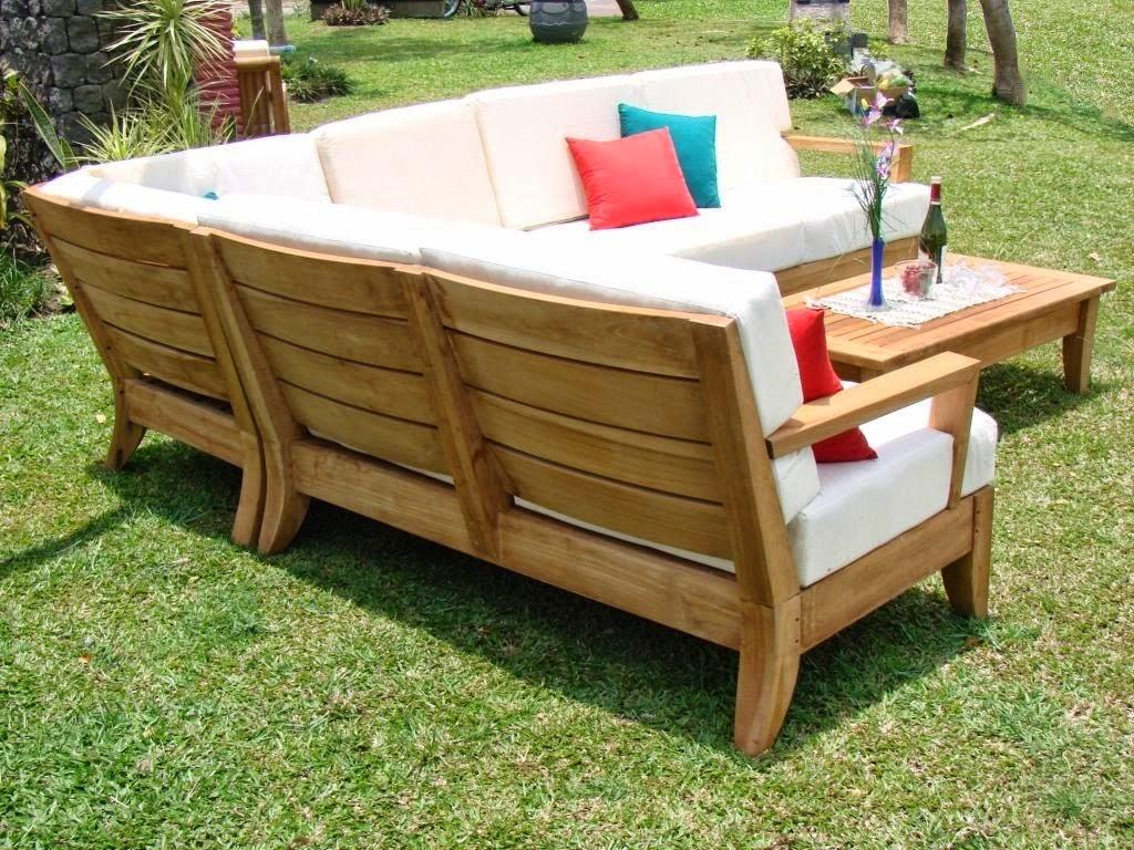 teak outdoor sofa harris tweed bowmore midi modern