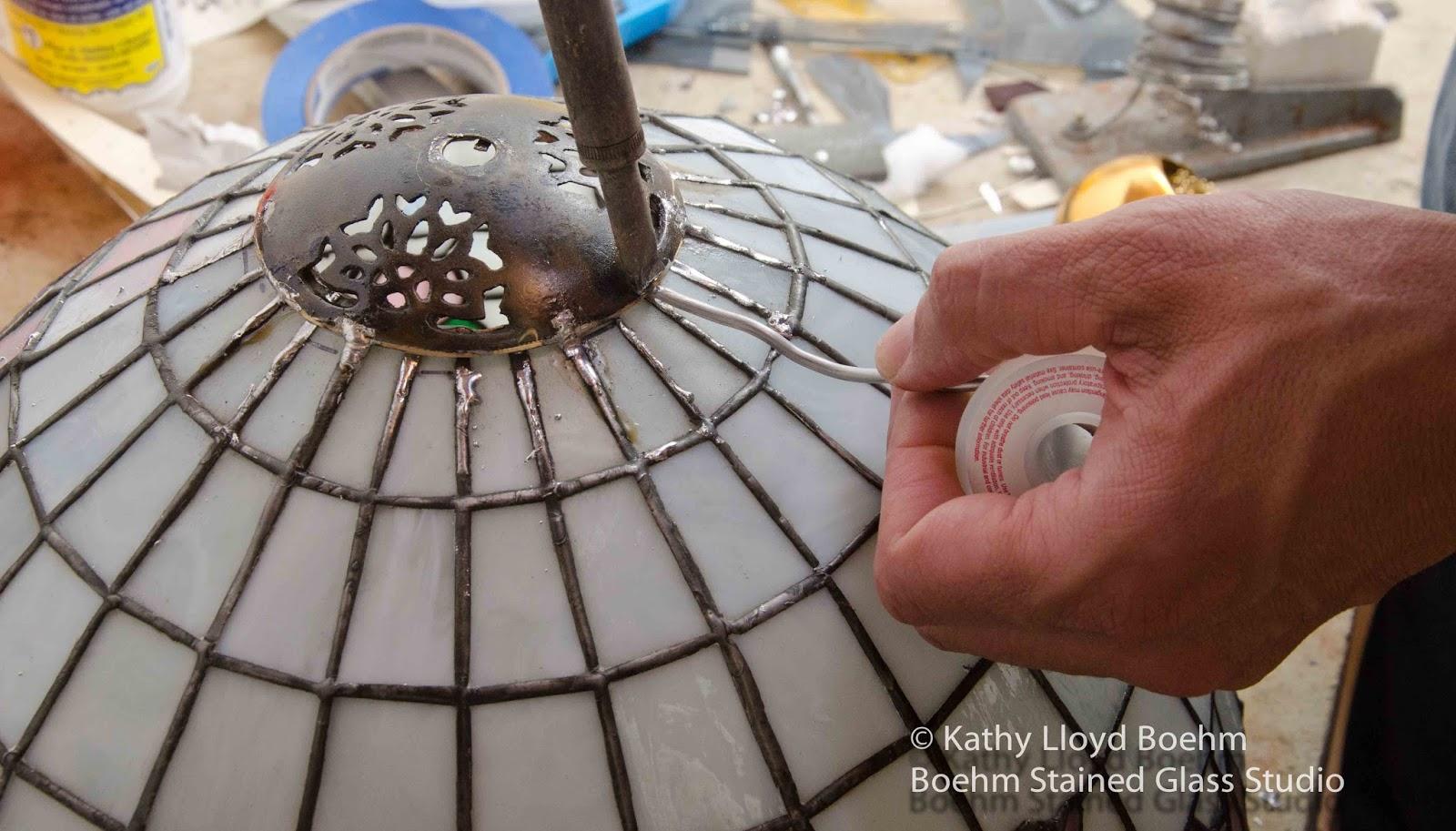 Boehm Stained Glass Blog: Lamp Cap Repair