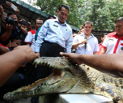 Anti-drugs czar Budi Waseso announced plans to guard a death-row prison island with crocodiles. He now mulls adding tigers and piranha fish.