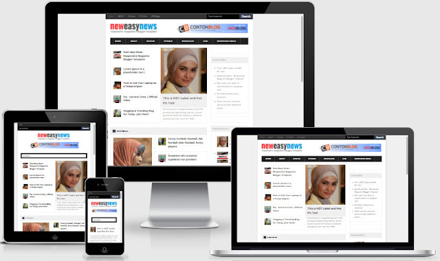 New Easy News Responsive Blogger Templates