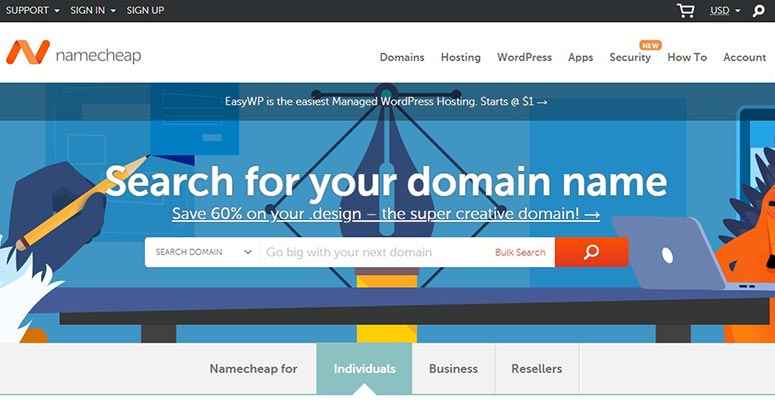 NameCheap registrar domain