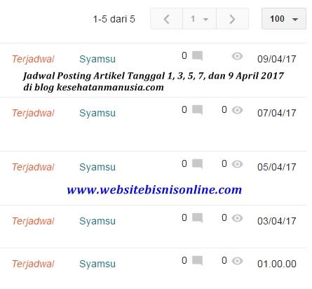 Cara Mudah Membuat Jadwal Posting Artikel Blog di Blogger Agar Terpublikasi Secara Otomatis