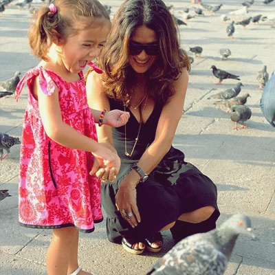 5 Celebrity Moms That Deserve A Pat on the Back Salma Hayek