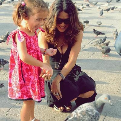 5 Celebrity Moms That Deserve A Pat on the Back Salma Hayek