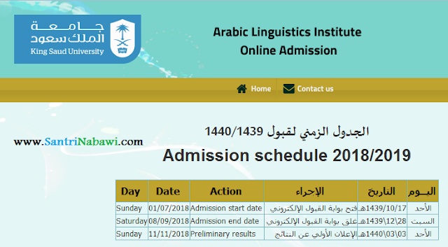 Beasiswa Pra-S1 & Diploma Tinggi Ma'had Lughoh King Saud University (KSU), Saudi Arabia 2018