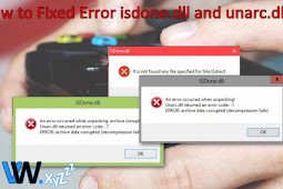 How to Fixed Error isdone.dll and unarc.dll