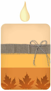 A Fall to Remember Candle - free scrapbook element