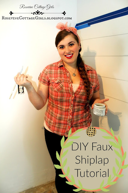 DIY Faux Shiplap Tutorial to give your home a farmhouse look and the character of an old home.