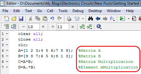Getting started with MATLAB, How to create your first MATLAB