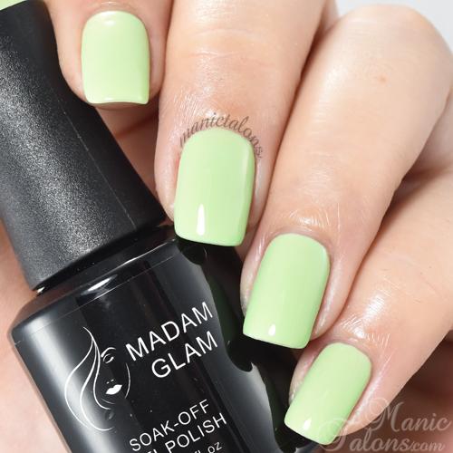 Madam Glam Gel Polish Green Garden Swatch