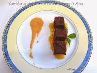 caprichos de chocolate con naranja