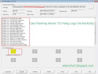 Cara Flashing Advan T2J Hang Logo Via Rockchip