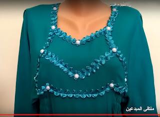 تفصيل وخياطة لباس الشرق (النايلي) خطوة بخطوة لكبار السن