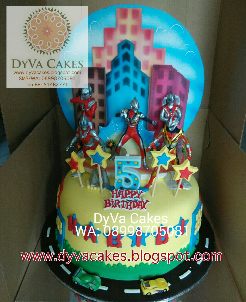 DyVa Cakes Ultraman Birthday Cake
