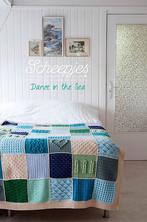Scheepjes CAL: Last dance on the beach, yarn kit 'Last Dance in the Sea' | Happy in Red