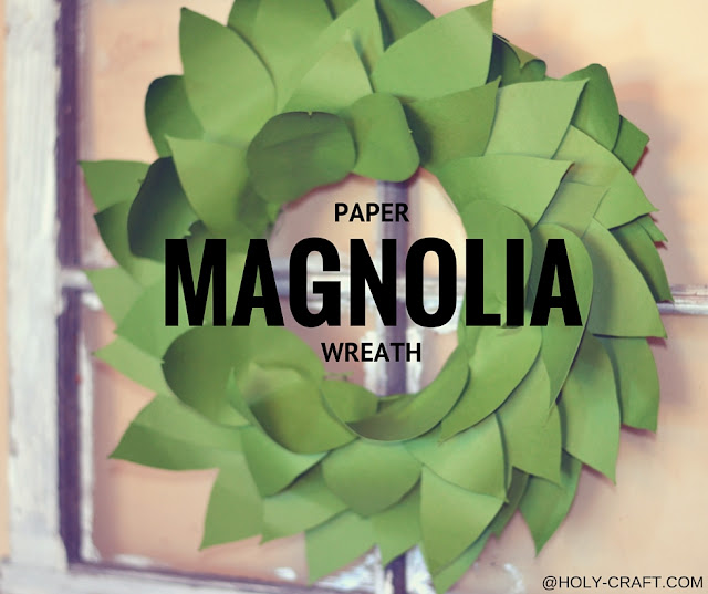 paper magnolia wreath using the silhouette cameo