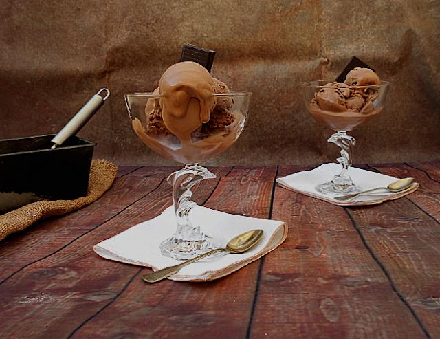 receita de gelado de chocolate