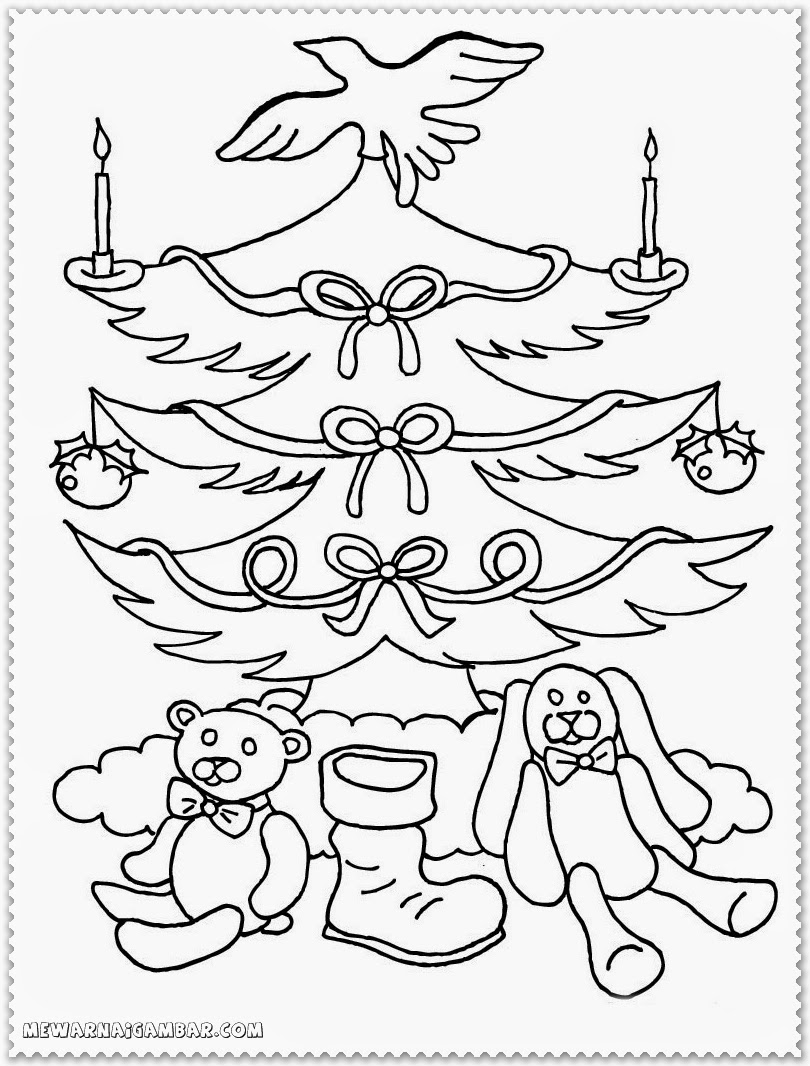 Christmas coloring pages book