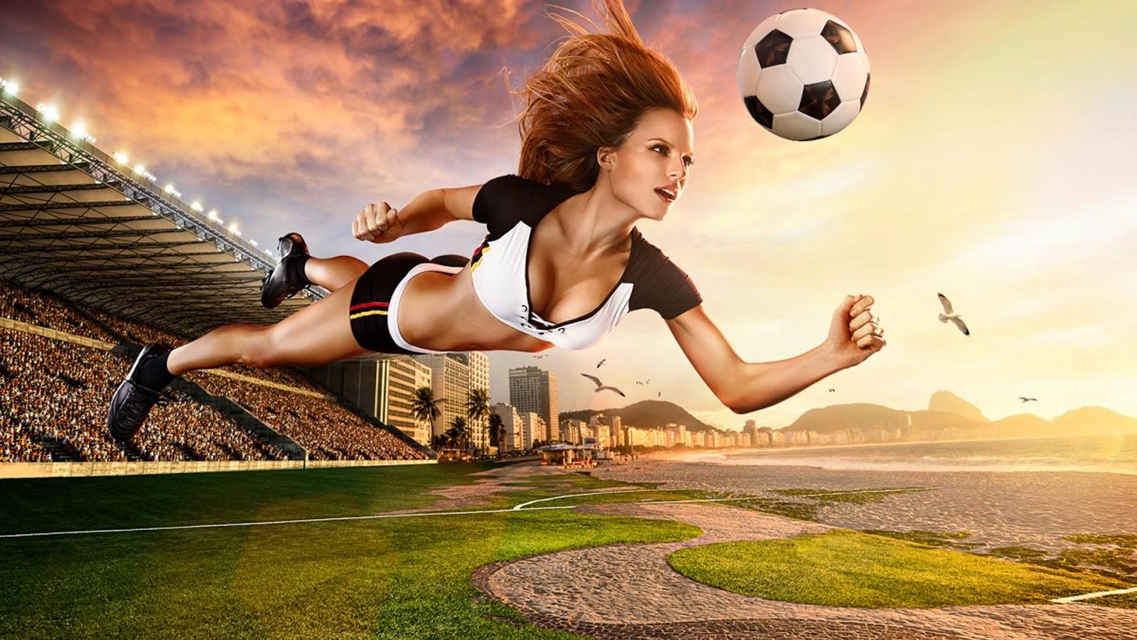 Soccer Girls Wallpaper Free: Brazil World Cup 2014 Football Baby Sexy Wallpaper