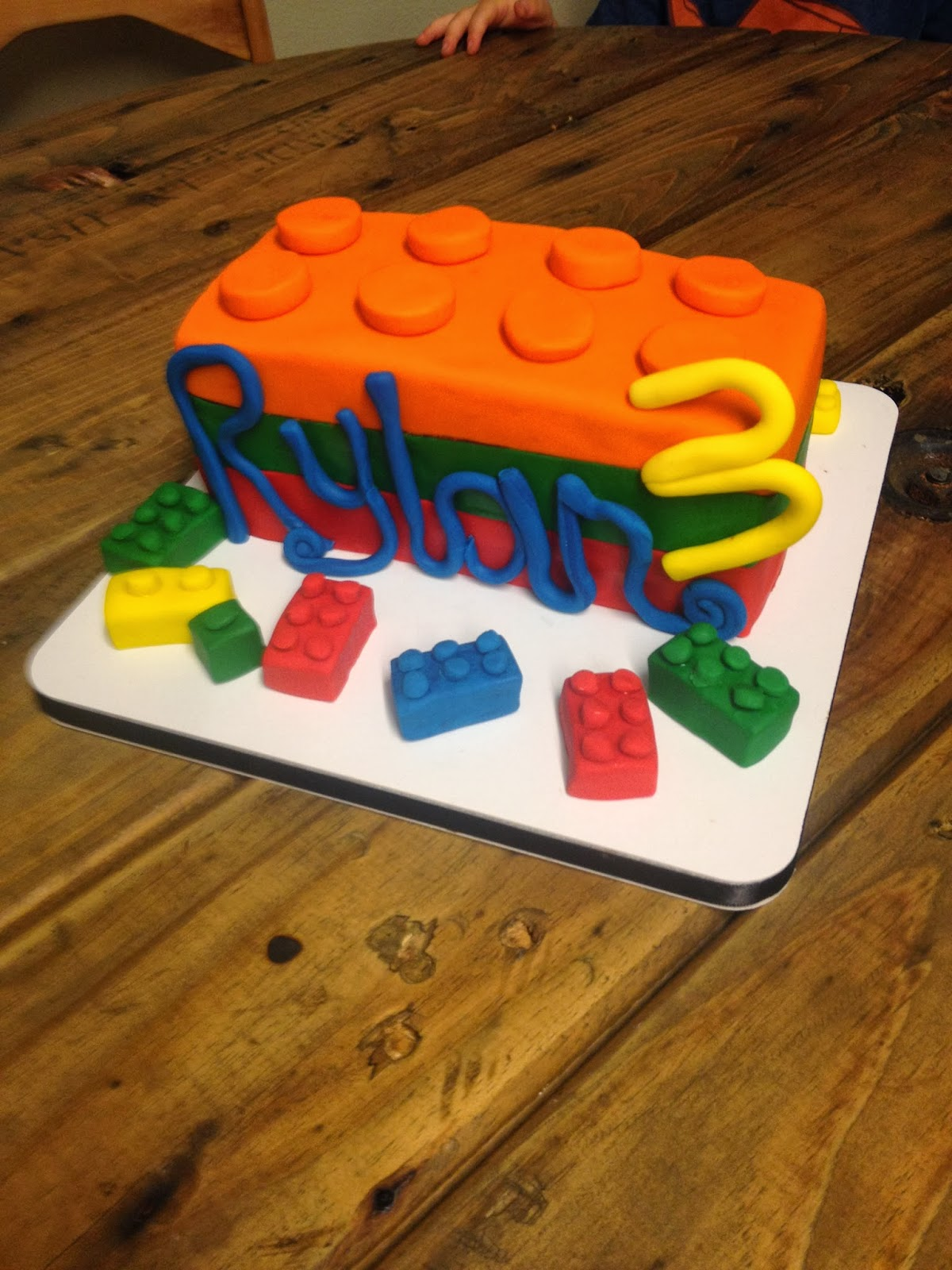 Sweet T S Cake Design Lego Sculpted 3rd Birthday Cake