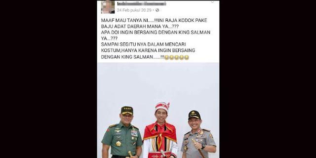Hina Jokowi dan Pakaian Adat Maluku, Pengguna Facebook Ini Dipolisikan