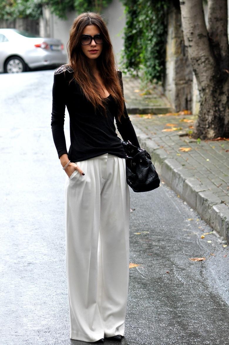 Geniş paça pantolon nasıl giyilir