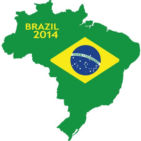 Mapa de Brasil 2014 - Vector