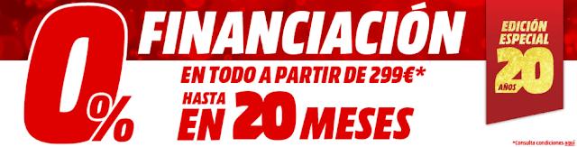 Top 5 ofertas folleto 0% financiación, especial 20 años II Media Markt