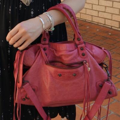 Balenciaga RH classic city bag in 2010 sorbet pink | awayfromtheblue